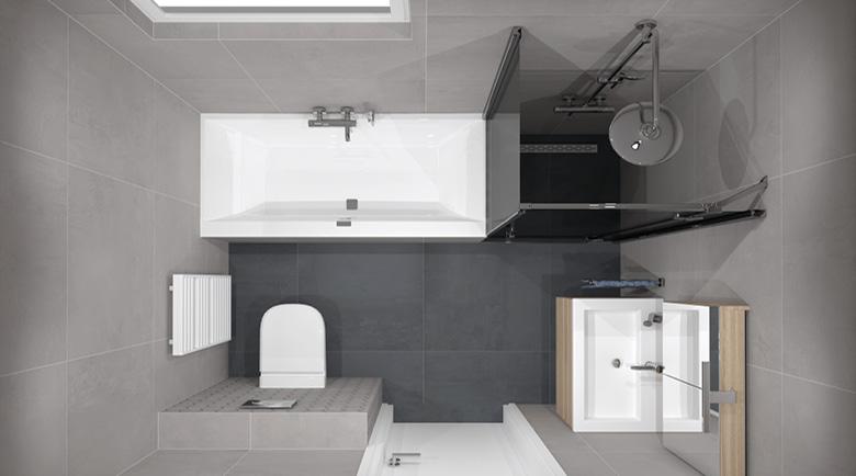 Hedendaags Eén badkamer, drie indelingen   Bad in Beeld VN-12